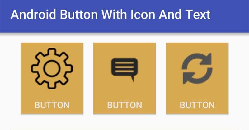 Android Button with Icon and Text | Viral Android \u2013 Tutorials