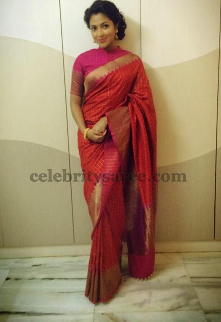 Amala Paul Chanderi Traditional Saree