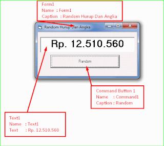 Source Code VB 6 Random Huruf dan Angka