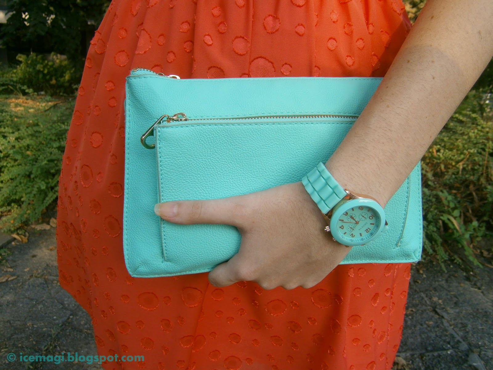Mint watch & bag