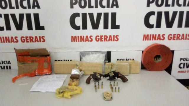 Polícia Militar de Três Pontas faz a maior apreensão de drogas do ano - Fotos: Polícia Civil