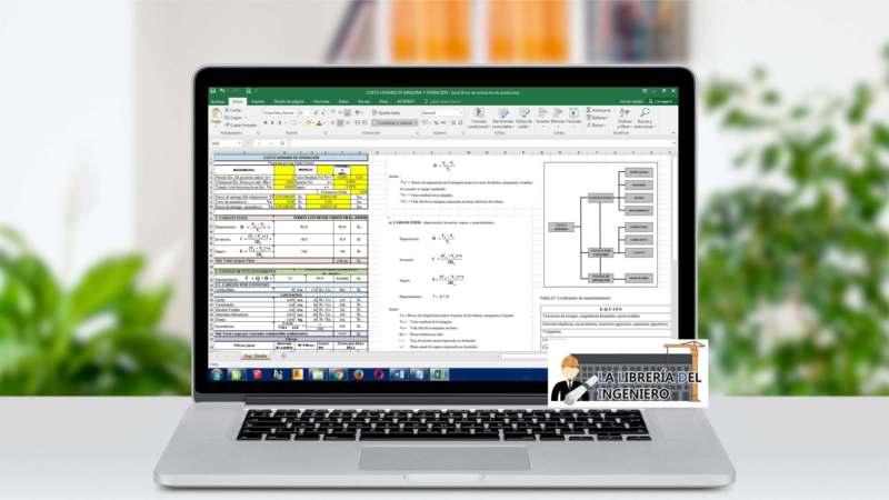 Costo Horario de Maquinaria y Operación - Excel