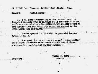 Risultati immagini per CIA, document, alien invasion, PSYCHOLOGICAL WARFARE
