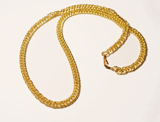 Chipina bright gold plated chain necklace