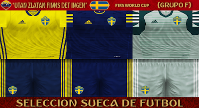 PES 6 Kits Sweden National Team World Cup 2018 by FacaA/Ngel