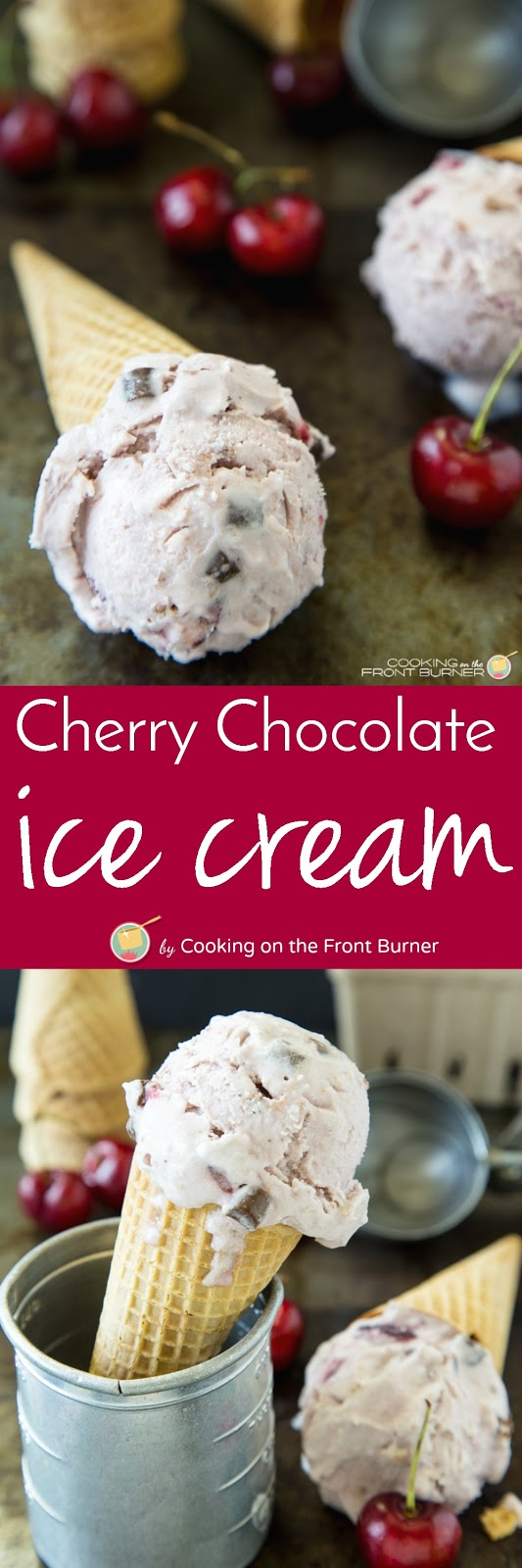 Keep cool and make your own Fresh Cherry Chocolate Ice Cream!