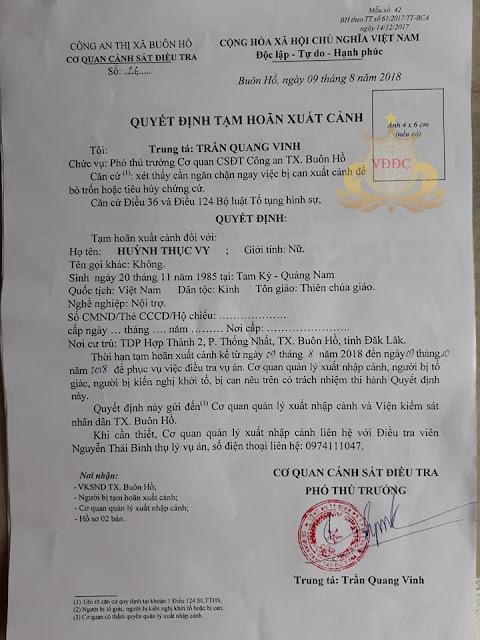 """Huỳnh Thục Vy bị khởi tố bị can về tội """"Xúc phạm Quốc kỳ"""""""