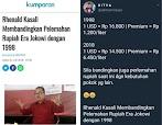 Rhenald Kasali Membandingkan Pelemahan Rupiah Era Jokowi dengan 1998, Netizen Sodorkan Fakta Ini