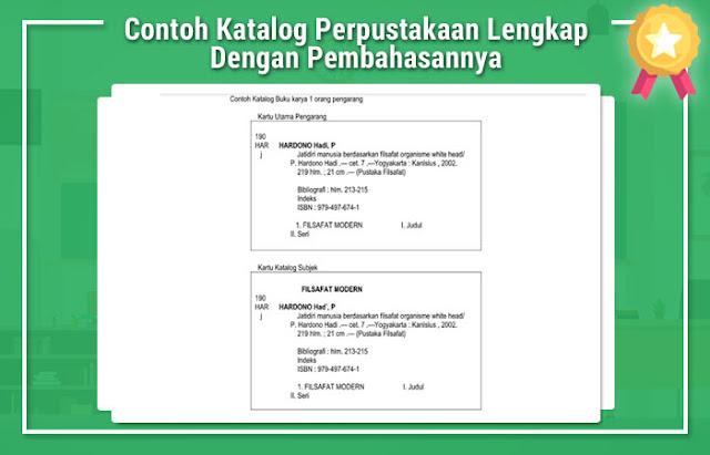 Contoh Katalog Perpustakaan Lengkap Dengan Pembahasannya