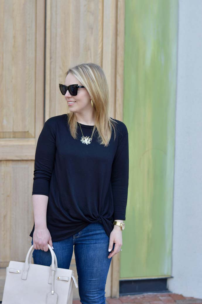 How to Style a Knotted Tee @rachmccarthy7