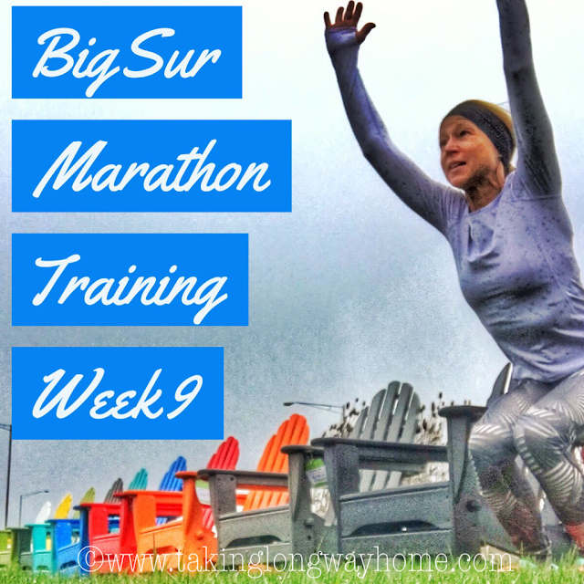 Big Sur Marathon Training Week 9
