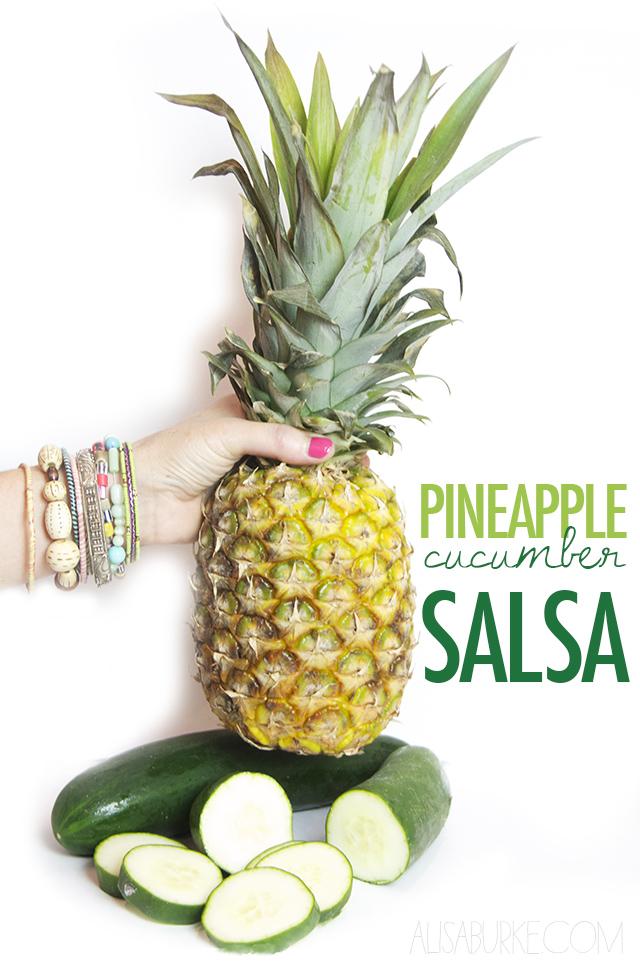 alisaburke: pineapple cucumber salsa
