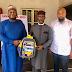 Engr. Chukwudi Samuel donates 5,000 school bag as he pays Courtesy Visit to Ugwumba Uche Nwosu