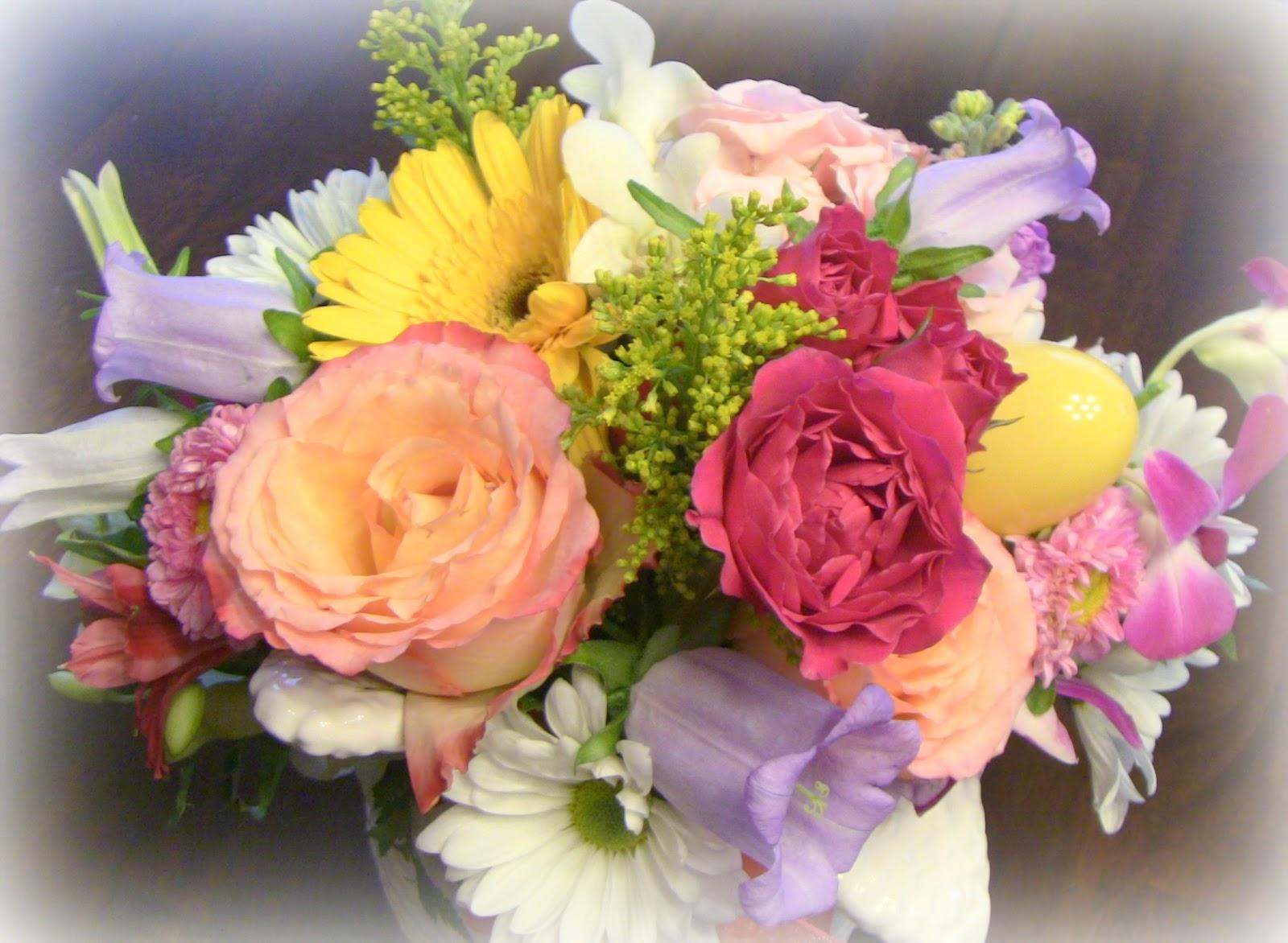 happy easter bunnies flowers-#28