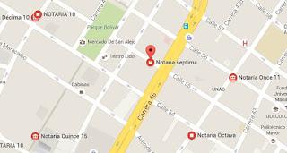 mapa de notarias de la ciudad