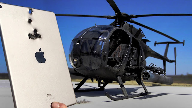 iPad vs Helicopter Mini-Gun