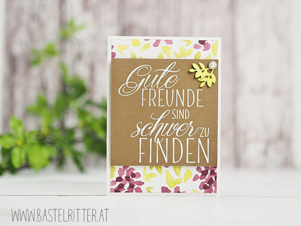 Gute freunde stampin up happy birthday bastelritter