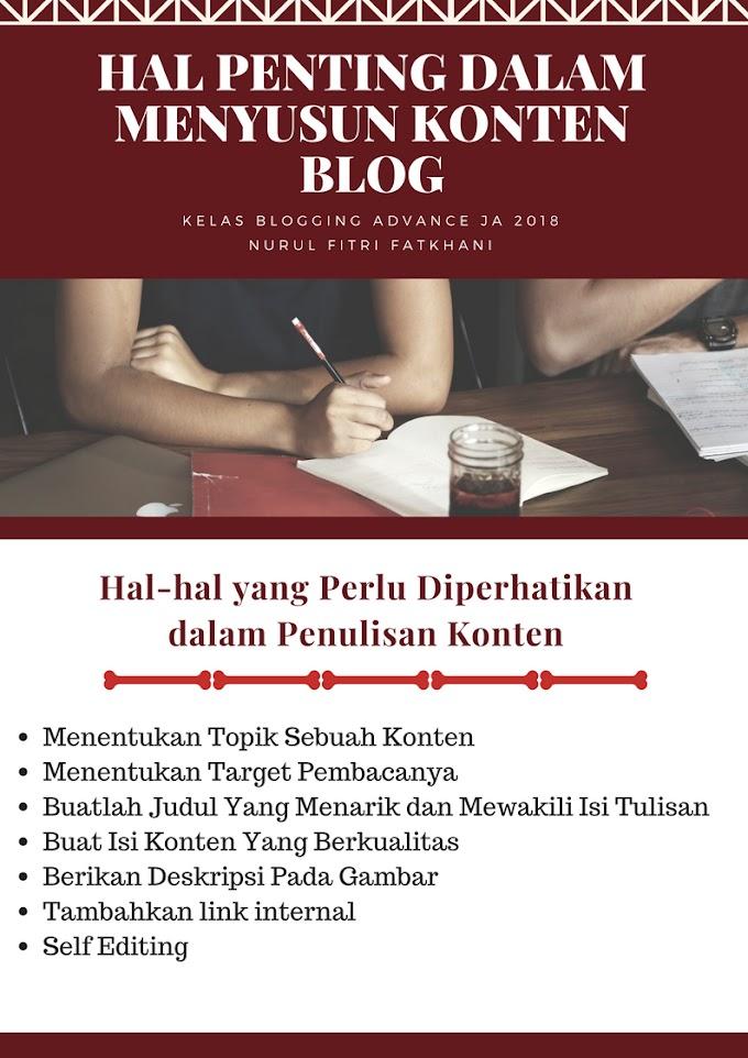 Hal Penting Dalam Menyusun Konten Blog