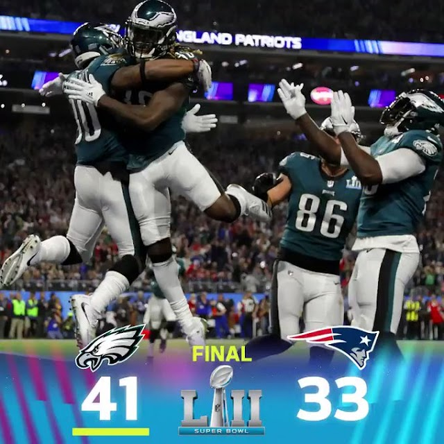 Say it out loud: the Philadelphia Eagles are Super Bowl champions.in thrilling game.