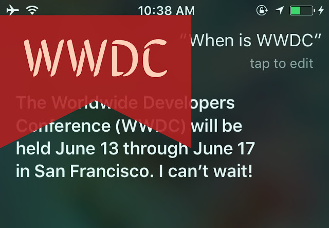 The 2016 World Wide Developer Conference (WWDC) is going to be held from June 13