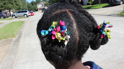 Natural Hair Kids Hairstyle : 5 Minutes Protective Style