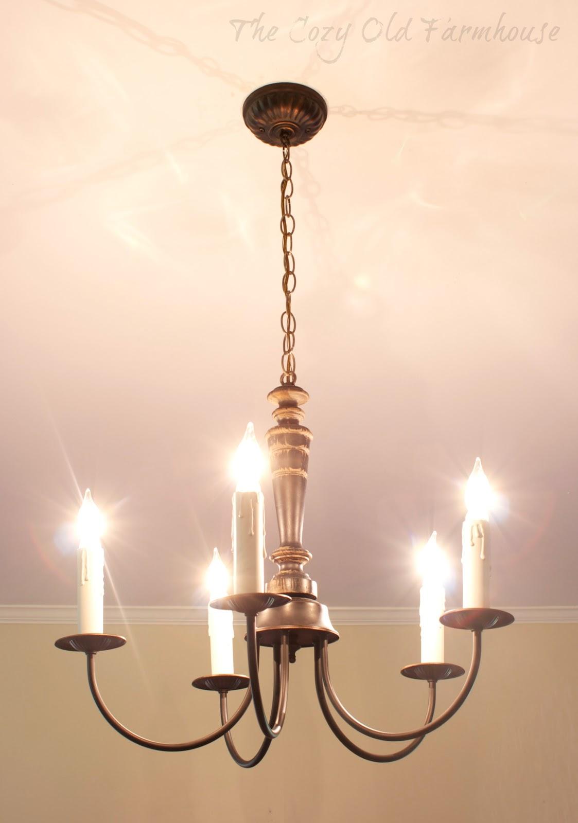 The cozy old farmhouse a farmhouse chandelier makeover a farmhouse chandelier makeover arubaitofo Gallery