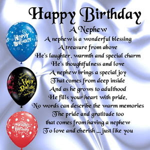 Happy Birthday wishes for nephew: a nephew is a wonderful of blessing