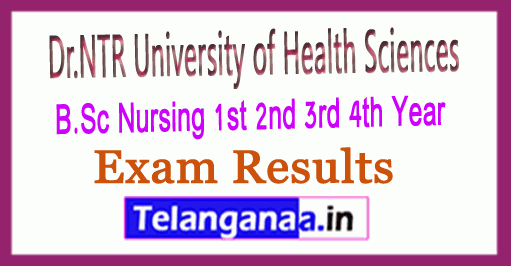 NTRUHS B.Sc Nursing 1st 2nd 3rd 4th Year (NS) Results