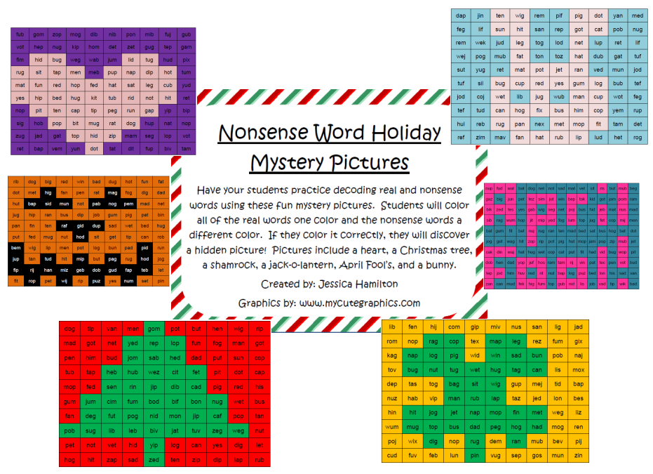http://www.teacherspayteachers.com/Product/Nonsense-Word-Mystery-Pictures-Holidays-384139