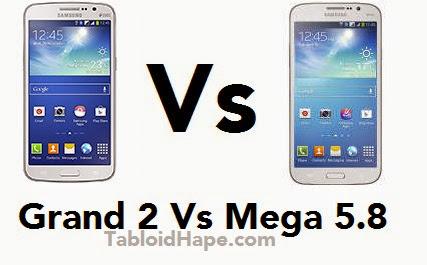 Compare Handphone Samsung Galaxy Grand 2  Vs Samsung Galaxy Mega 5.8