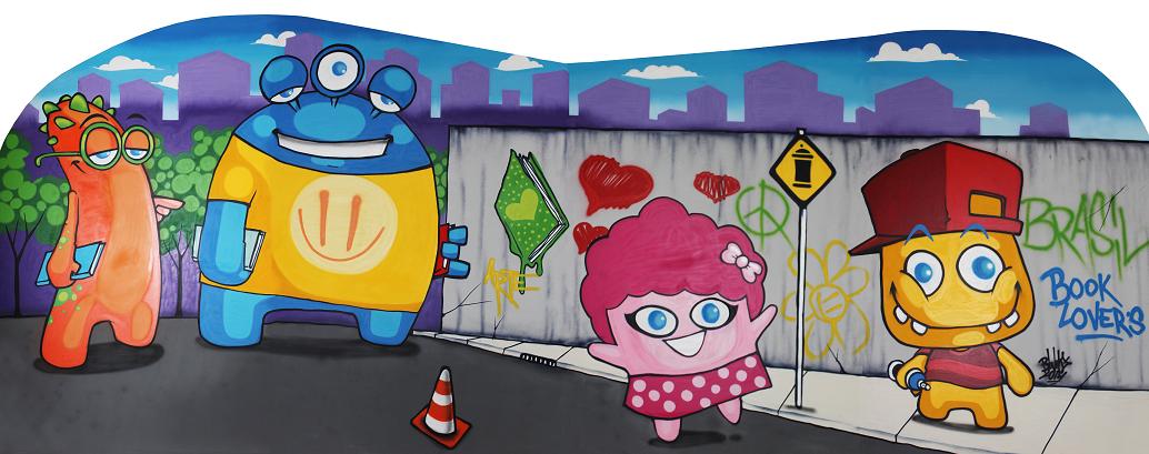 f84251a98 HISTÓRIA E GRAFITE NA FEIRA BOOK LOVERS KIDS NO PARQUE SHOPPINGBARIGÜI