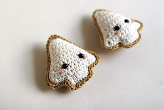 Christmas cookies crochet pattern by TomToy, Amigurumi crochet toy, Crochet ornament, Handmade DIY gift for Christmas