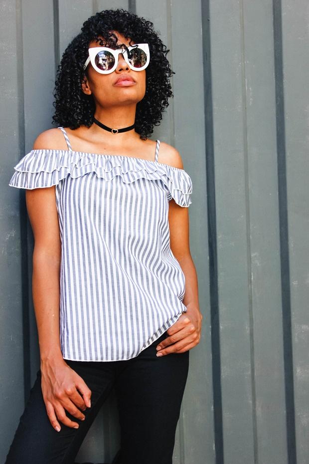 Como usar Blusa de listras Amiclubwear