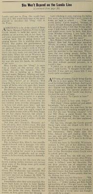 Carole Landis 1940 Article
