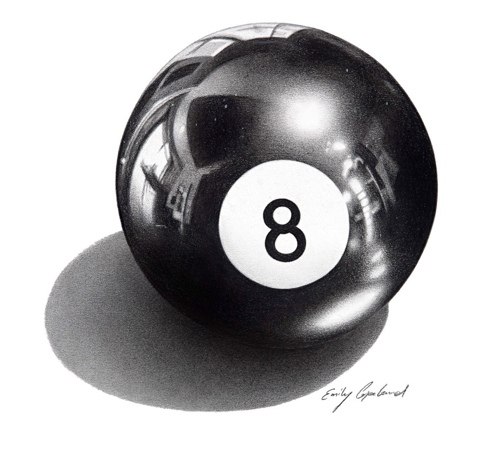 03-Eight-Ball-Emily-Copeland-Vintage-and-Retro-Objects-in-Photo-Realistic-Drawings-www-designstack-co