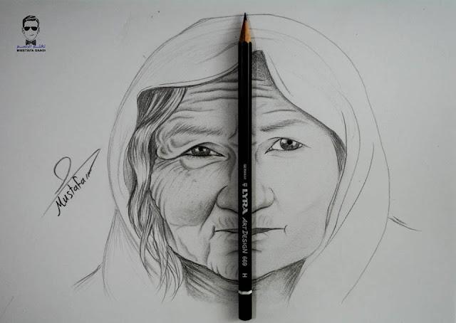 تعلم رسم تجاعيد الوجه
