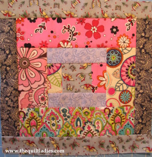 Quilt Pattern Block of the Month, Log Cabin Quilt Block Pattern Four