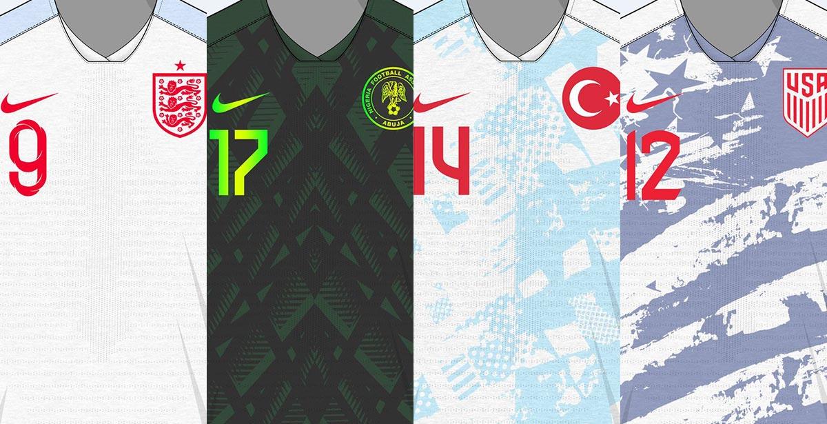 best loved 2e1e1 04f50 Classy Nike England, Nigeria, Turkey & USA 2019 Concept ...