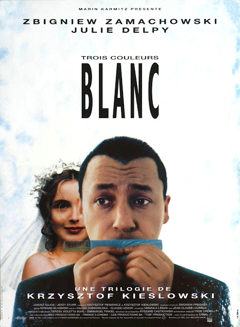 Three Colors: White, Trois couleurs: Blanc, Poster, Julie Delpy, Directed by Krzysztof Kieslowski, Poland, Silver Berlin Bear