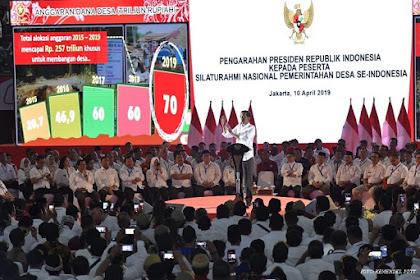 Jokowi Sebut Kades Presidennya Desa