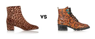 Ворсистые и матовые ботинки с леопардовым принтом