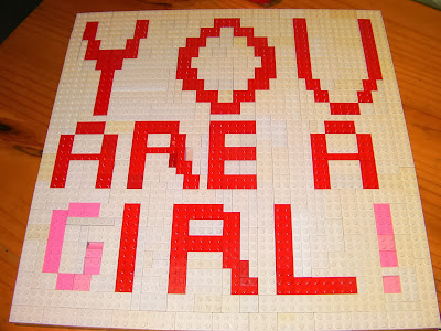lego writing you are a girl funny trolling kid