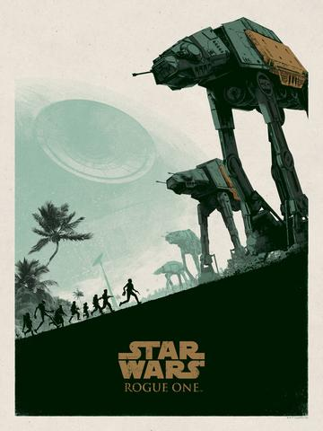 Star Wars: Rogue One Screen Print by Matt Ferguson x Bottleneck Gallery