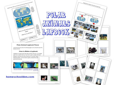 http://homeschoolden.com/2017/01/24/winter-packet-earths-axis-seasons-the-arctic-vs-antarctica-polar-animals-and-more/