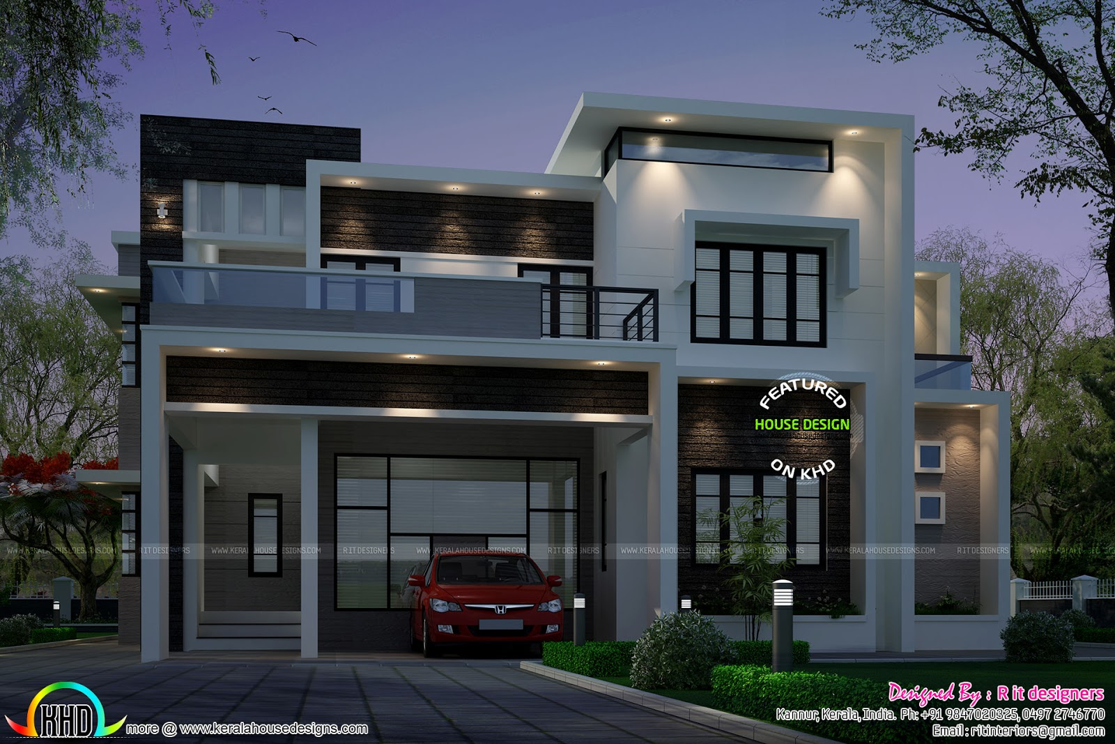 Contemporary Style House Plans | 2883 Sq Ft Contemporary Style House Kerala Home Design Bloglovin