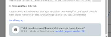 Panduan Verifikasi Properti Domain di Google Webmaster Tools