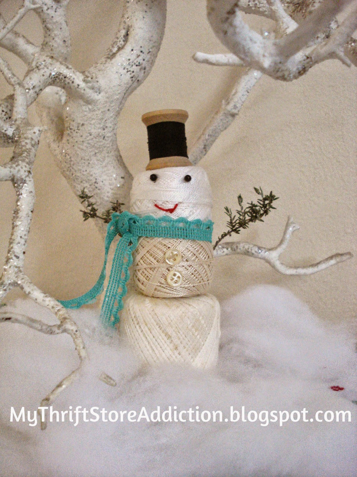 Vintage Thread snowman