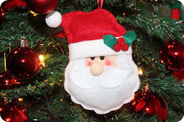 Decoração da Árvore de Natal : Papai Noel de Feltro