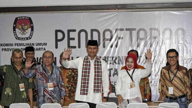 Pasangan Agus-Sylviana Resmi Daftarkan Diri ke KPUD DKI Jakarta