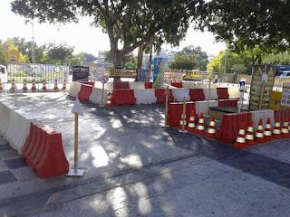 Τπ διαδραστικό Πάρκο Κυκλοφοριακής αγωγής στημένο στην πλατεία
